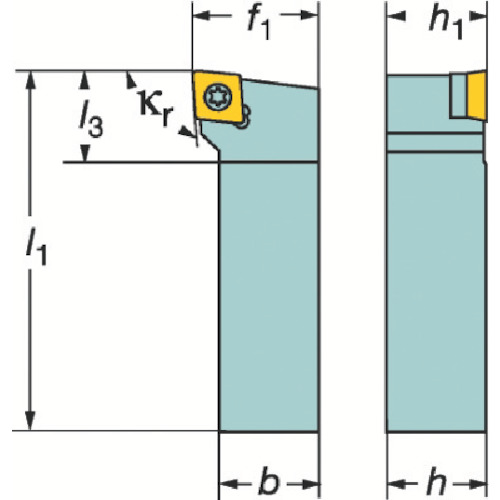 ■サンドビック コロターン107 ポジチップ用シャンクバイト  〔品番:SCLCR〕[TR-2517981]
