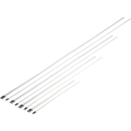 ■パンドウイット MLTタイプ 自動ロック式ステンレススチールバンド SUS304 幅4.6mm 長さ363mm 100本入り MLT4S-CP [TR-2521717]