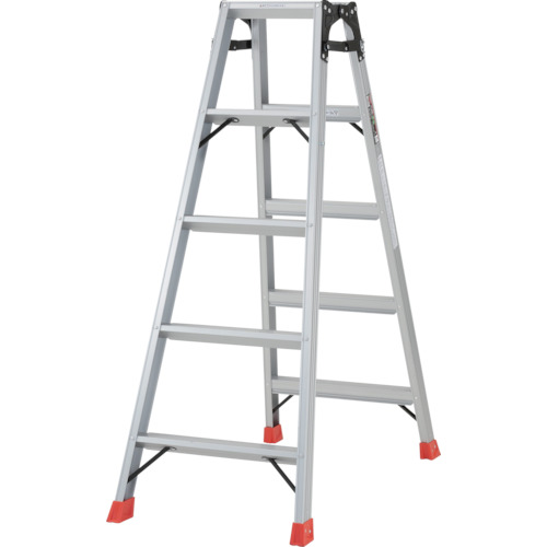 ■TRUSCO はしご兼用脚立 アルミ合金製脚カバー付 高さ1.40M  〔品番:TPRK-150〕[TR-2737604]【大型・重量物・個人宅配送不可】