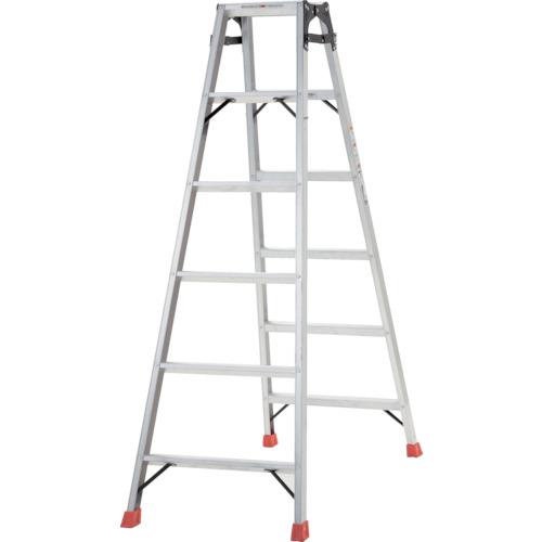 ■TRUSCO はしご兼用脚立 アルミ合金製脚カバー付 高さ1.69M  〔品番:TPRK-180〕[TR-2737612]【大型・重量物・個人宅配送不可】