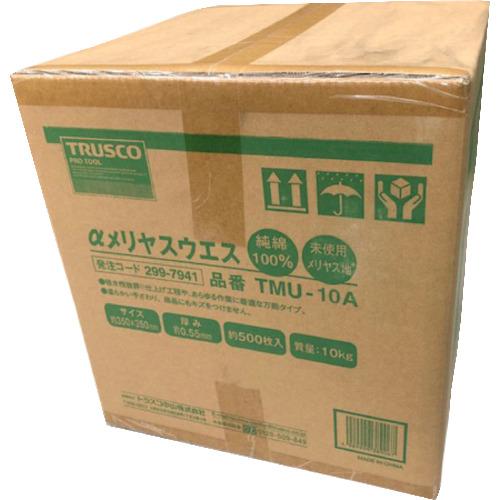 ■TRUSCO αメリヤスウエス 汎用タイプ (10kg入) TMU-10A トラスコ中山(株)[TR-2997941]
