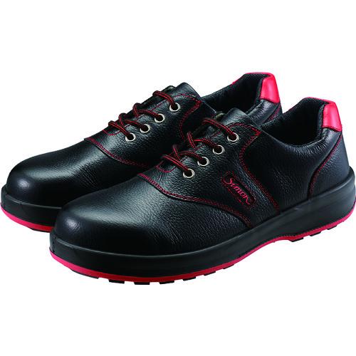 ■シモン 安全靴 短靴 SL11-R黒/赤 23.5cm〔品番:SL11R-23.5〕[TR-3255549]