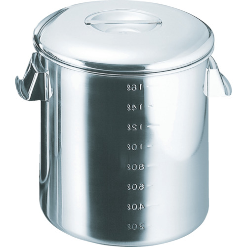 ■スギコ 18-8目盛付深型キッチンポット 内蓋式 300x300 SH-4630D スギコ産業(株)[TR-3320383]