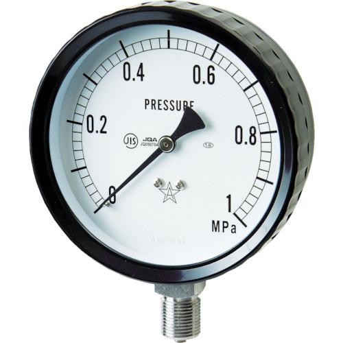 ■右下 ステンレス圧力計(A枠立型・φ75) 圧力レンジ0~0.10MPa G311-261-0.1MP 右下精器製造(株)[TR-3328058]