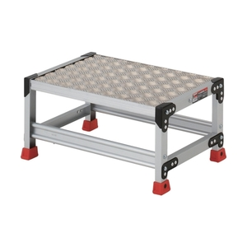 ■TRUSCO 作業用踏台 アルミ製・縞板タイプ 天板寸法600X400XH300 TSFC-163 トラスコ中山(株)[TR-3365093]