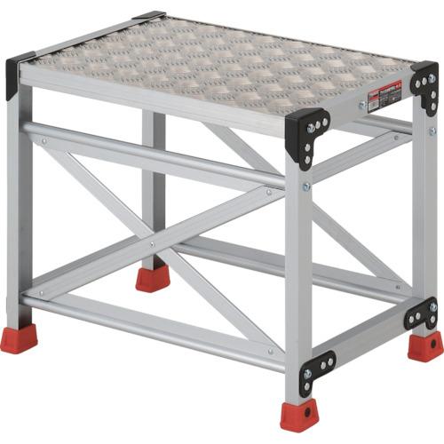 ■TRUSCO 作業用踏台 アルミ製・縞板タイプ 天板寸法600X400XH500 TSFC-165 トラスコ中山(株)[TR-3365107]