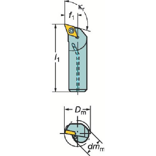 ■サンドビック コロターン107 ポジチップ用ボーリングバイト  〔品番:A20S-SDQCR11-R〕[TR-3391299]