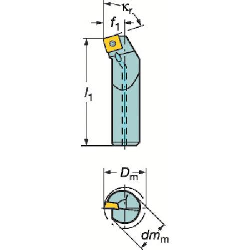 ■サンドビック コロターン107 ポジチップ用ボーリングバイト  〔品番:A20S-SSKCR09-R〕[TR-3391353]