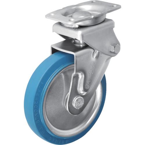 ■シシク 緩衝キャスター 固定 スーパーソリッド車輪 200径 SAK-HO-200SST [TR-3535291]