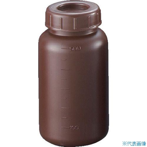 ■サンプラ PE広口遮光瓶 500ml (100個入) 2912 [TR-3540910] [個人宅配送不可]