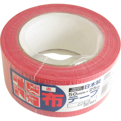 ■オカモト 布テープカラーOD-001 赤(30巻) OD-001-R [TR-3562301×30]