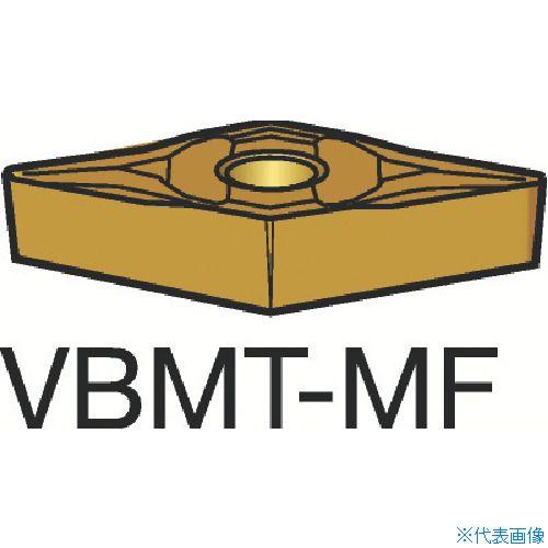 ■サンドビック コロターン107 旋削用ポジ・チップ 1125(10個) VBMT [TR-3584330×10]