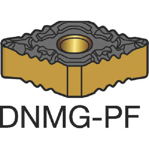 ■サンドビック T-MAX P 旋削用ネガ・チップ 1515 1515 10個入 〔品番:DNMG〕[TR-3589561×10]