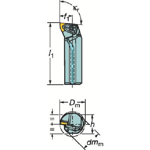 ■サンドビック コロターンRC ネガチップ用ボーリングバイト  〔品番:A25T-DWLNR〕[TR-3593207]