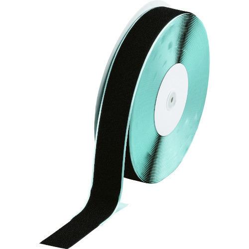 ■TRUSCO マジックテープ[[R下]] 糊付A側 幅50mmX長さ25m 黒 TMAN-5025-BK トラスコ中山(株)[TR-3619443]