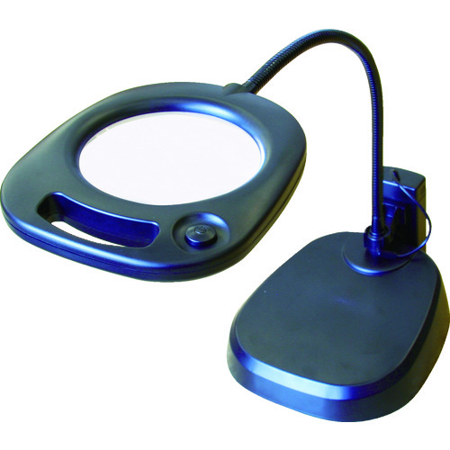 ■池田レンズ LEDライト付スタンドルーペ CMS-130 [TR-3650120]