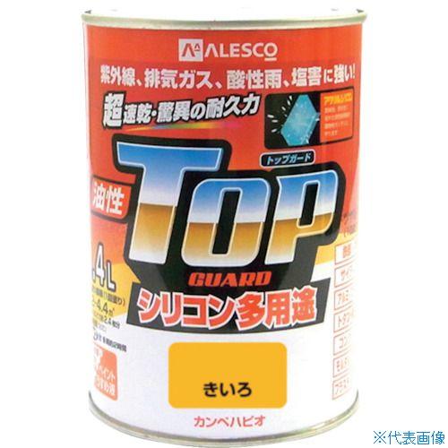 カンペハピオ 塗料 ■KANSAI カンペ アイテム勢ぞろい オーバーのアイテム取扱☆ 品番:119-0554 油性トップガード0.4Lきいろ TR-3652076