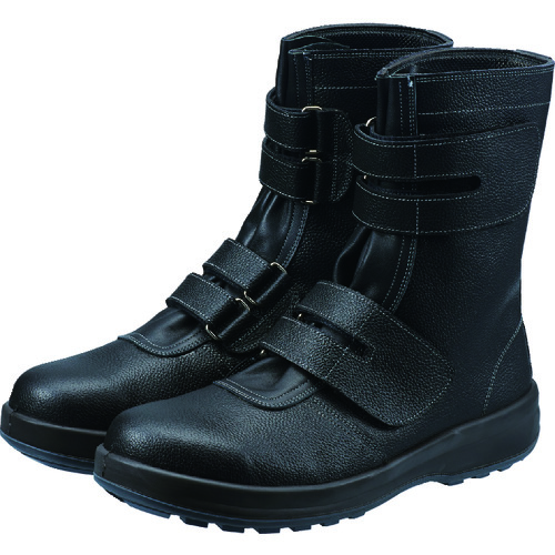 ■シモン 安全靴 長編上靴マジック式 SS38黒 23.5cm SS38-23.5 シモン[TR-3683095]
