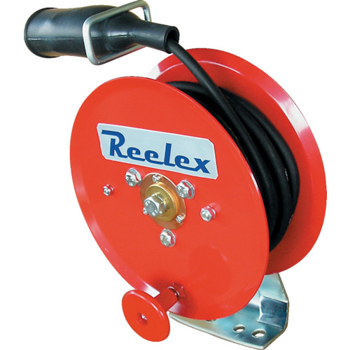 ■Reelex 手動巻アースリール 2.0SQ×10m 50Aアースクリップ付 ER-7210M 中発販売(株)[TR-3754197]