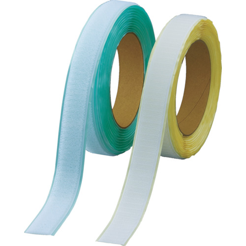■TRUSCO マジックテープ[[R下]]弱粘着タイプ100mmX5m白(1巻=1セット) TPD-1005MTS-W トラスコ中山[TR-3897192]