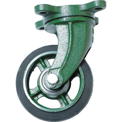 ■TRUSCO 鋼鉄製運搬車用 鋳物金具自在キャスターφ150ゴム車〔品番:TAJ-150〕[TR-3899438]