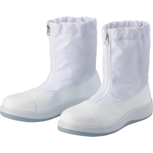 ■ミドリ安全 トウガード付 先芯入りクリーン静電靴 ハーフフード 25.5CM SCR1200FCAP-HH-25.5 ミドリ安全(株)[TR-4059697]