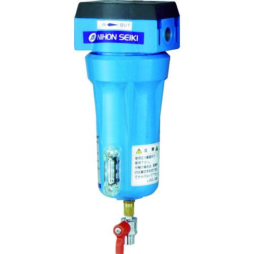 ■日本精器 高性能エアフィルタ10A3ミクロン(ドレンコック付) NI-CN1-10A-DL-DV 日本精器(株)[TR-4121325]