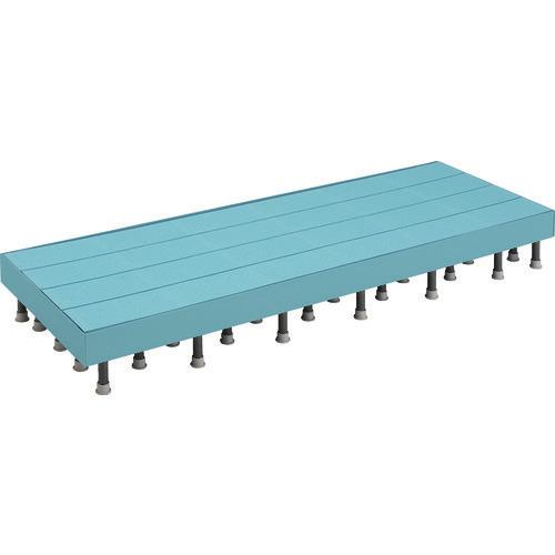 ■TRUSCO 樹脂ステップ高さ調節式側板付600X1800 H200-220 DS-6018HG トラスコ中山(株)[TR-4163613]