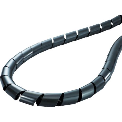 ■ヘラマンタイトン スパイラルチューブ (ポリエチレン製 耐候グレード) 黒 長さ20m TS-25-W [TR-4337875]
