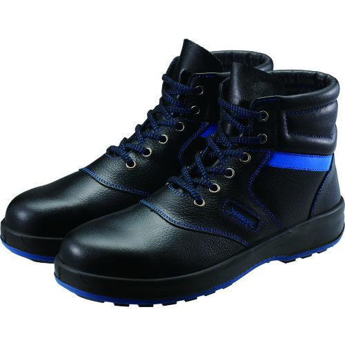■シモン 安全靴 編上靴 SL22-BL黒/ブルー 24.5cm SL22BL-24.5 (株)シモン[TR-4351380]