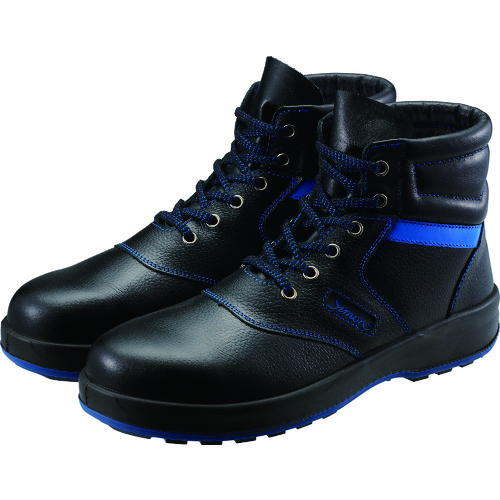 ■シモン 安全靴 編上靴 SL22-BL黒/ブルー 26.5cm SL22BL-26.5 (株)シモン[TR-4351428]