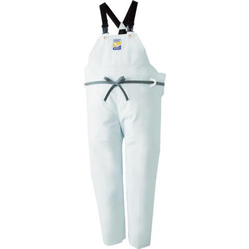 ■ロゴス マリンエクセル 胸当て付きズボン膝当て付きサスペンダー式 ホワイト3L 12063610 [TR-4415116]