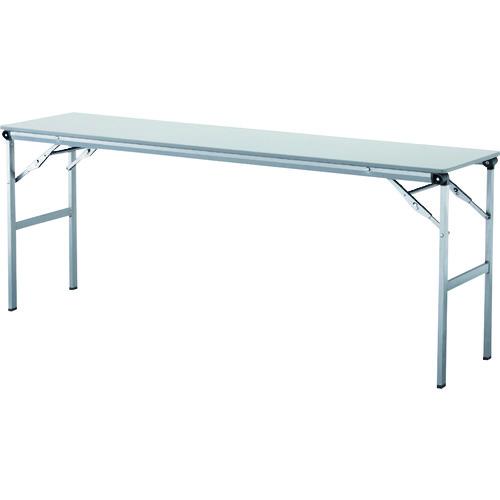 ■アイリスチトセ 折畳みテーブルLOT 棚無し1845サイズ ライトグレー LOT-1845-LGY [TR-4526406] [送料別途お見積り]