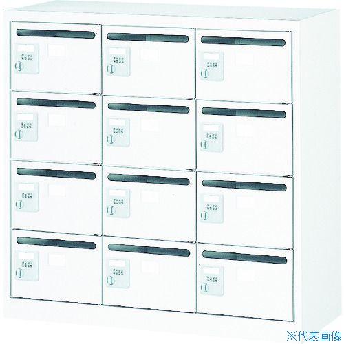 ■TRUSCO メールボックス 12人用 手ぶらキー 900X380XH880 ホワイト WMVK-12P トラスコ中山(株)[TR-4540999] [個人宅配送不可]