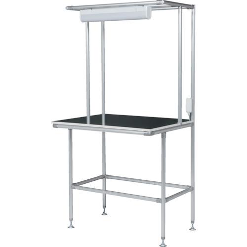 ■SUS セル生産作業台 棚板・作業ボードあり 照明60Hz GFTR2880012 SUS(株)[TR-4565738]