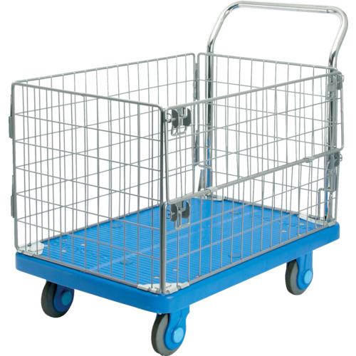 ■カナツー 静音PLA300網樹脂製運搬車  〔品番:PLA300-AMI-M1〕[TR-4577311]【大型・重量物・個人宅配送不可】