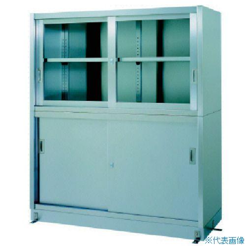 ■シンコー ステンレス保管庫上部ガラス戸下部ステンレス戸ベース仕様 VG-12060 シンコー(株)[TR-4598679] [個人宅配送不可]