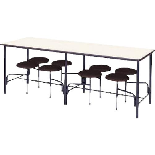 ■ニシキ 食堂テーブル 8人掛 ブラウン STM2175BR ニシキ工業(株)[TR-4635710] [個人宅配送不可]