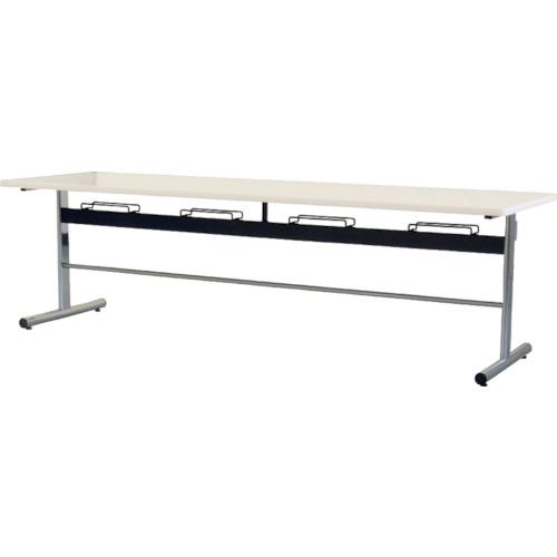 ■TOKIO 食堂用テーブル ソフトエッジ 2400×750mm ホワイト DA-2475-W 藤沢工業(株)[TR-4645715] [個人宅配送不可]