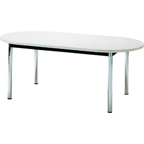 ■TOKIO ミーティングテーブル 楕円型 1800×900mm ホワイト TC-1890R-W 藤沢工業(株)[TR-4646240] [個人宅配送不可]