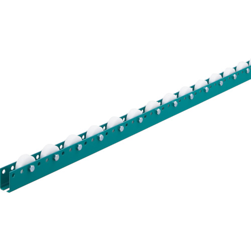 ■三鈴 単列型樹脂ホイールコンベヤ 径36XT20XD8  〔品番:MWR36T-0724〕[TR-4659040]【大型・重量物・個人宅配送不可】