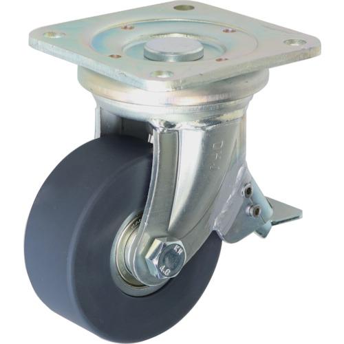 ■シシク 低床超重荷重用キャスター 100径 ユニクロ MCMO車輪 DHJB-100U-MCMO [TR-4660501] [送料別途お見積り]