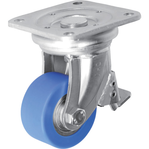 ■シシク 低床超重荷重用キャスター 80径 ユニクロ MC車輪 DHJB-80U-MC [TR-4660510] [送料別途お見積り]