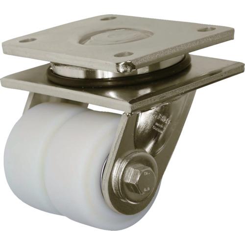 ■シシク 低床重荷重用双輪キャスター 自在 80径  〔品番:LSD-GSPO-80K〕[TR-4660609]【送料別途お見積り】