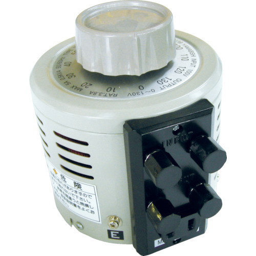 ■山菱 ボルトスライダー据置型 大容量タイプ 最大電流5A 入力電圧100V〔品番:V-130-5〕[TR-4661168]【個人宅配送不可】