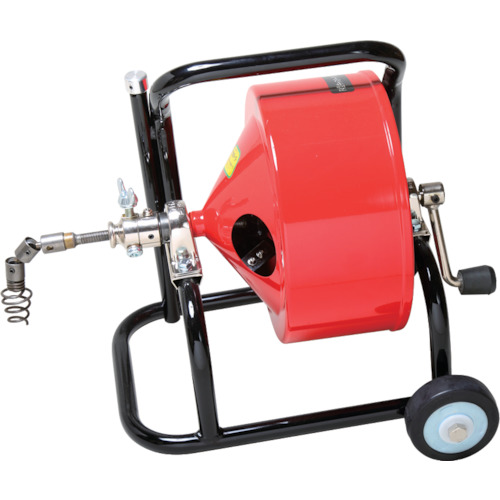 ■ヤスダ 排水管掃除機F4型キャスター型 清掃能力18M  〔品番:F4-10-18〕直送元[TR-4664655]【個人宅配送不可】