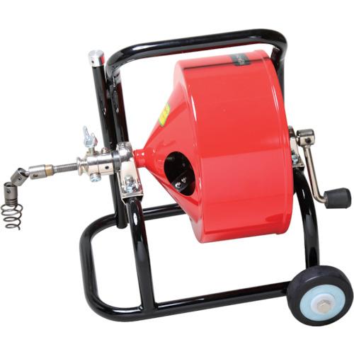 ■ヤスダ 排水管掃除機F4型キャスター型 清掃能力12M  〔品番:F4-12-12〕[TR-4664671]【個人宅配送不可】