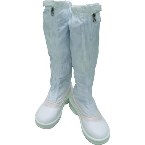 ■ゴールドウイン 静電安全靴ファスナー付ロングブーツ ホワイト 24.0cm PA9850-W-24.0 ゴールドウイン[TR-4726952]