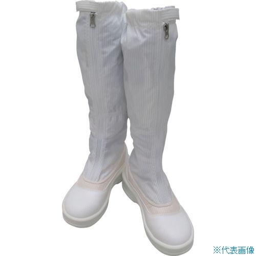 ■ゴールドウイン 静電安全靴ファスナー付ロングブーツ ホワイト 28.0cm PA9850-W-28.0 ゴールドウイン[TR-4727029]