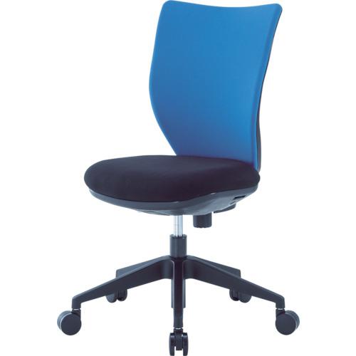 ■アイリスチトセ 回転椅子3DA ブルー 肘なし 3DA-45M0-BL アイリスチトセ[TR-4743873] [個人宅配送不可]